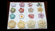 Paper flowers using circles - YouTube