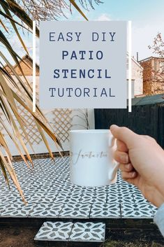DIY HOME HACK // HOW TO STENCIL A CONCRETE PATIO – THE LAYOVER LIFE