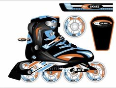 Inline skates designDone in Adobe illustrator Inline Skating, Baby Car Seats, Skate, Design, Roller Blading, Roller Skating
