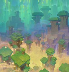 landscape reduced to the minimum -> interesting artstyle Fantasy Landscape, Landscape Art, Fantasy Art, Environment Concept Art, Environment Design, Gfx Design, Pix Art, Game Background, Game Concept Art
