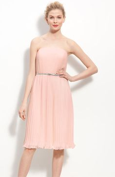 @Christie LeBouef  Donna Morgan Belted Pleated Chiffon Dress | Nordstrom
