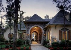 Exceptional French Country Manor - 40444DB | European, French Country, Luxury, Photo Gallery, Premium Collection, 1st Floor Master Suite, Butler Walk-in Pantry, CAD Available, Courtyard, Den-Office-Library-Study, MBR Sitting Area, Media-Game-Home Theater, PDF, Split Bedrooms, Corner Lot | Architectural Designs
