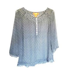 Joe Fresh sheer blouse size small Great for spring!!! Sheer Joe Fresh blouse with gathering on back as pictured in photo #4.  Great condition. Joe Fresh Tops Blouses