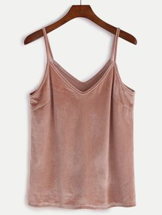 Online shopping for Pink Velvet Cami Top from a great selection of women's fashion clothing & more at MakeMeChic.COM.