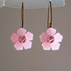 Pink Cherry Blossom Earrings by lulabug