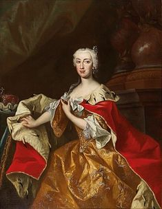 Johann Gottfried Auerbach Maria Anna of Austria Governor of the Austrian Netherlands and sister of the Empress Maria Theresa of Austria Variant of the robe de cour with loose sleeves. Marie Antoinette, Austria, Spanish Netherlands, Maria Theresia, Rococo Fashion, Anna, Holy Roman Empire, Roman Emperor, The Empress