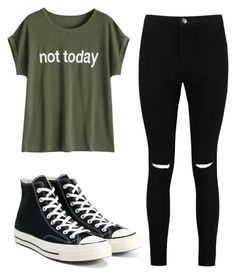 """Untitled #10"" by nastjmolchunowa on Polyvore featuring Boohoo and Converse"