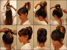 11 easy hairstyles step-by-step - Hairstyles for all occasions Travel Hairstyles, Braided Hairstyles, Step By Step Hairstyles, Tape In Hair Extensions, Homecoming Hairstyles, Stylish Hair, Hair Dos, Hair Hacks, New Hair