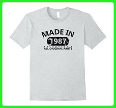 Mens 30th Birthday 1987 Vintage Funny T-shirt Gift Father Day Tee Medium Heather Grey - Birthday shirts (*Amazon Partner-Link)