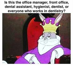 Is this the office manager, front office, dental assistant, hygienist, dentist, or everyone who works in dentistry?
