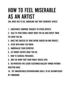 How to Feel Miserable as an Artist » Man Made DIY | Crafts for Men « Keywords: talk, design, creativity, education