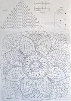 Помогите найти схему центрального квадрата на спинке - Вязание - Страна Мам