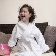 1498c1c64b Fine Egyptian Cotton Bath Hooded Robe (Child) Black Gift Boxes