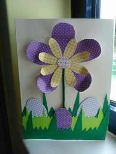 Diy #easter card. Χειροποίητη #πασχαλινή κάρτα Easter Arts And Crafts, Spring Crafts For Kids, Fun Crafts, Art For Kids, Diy And Crafts, Savannah Craft, Christmas Buttons, Art Africain, Easter Gift