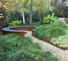10 Eye-Opening Cool Tips: Stone Fire Pit Seating rectangle fire pit hot tubs.Fire Pit Backyard Back Yards. Corten Steel Garden, Steel Garden Edging, Gravel Garden, Gravel Path, Steel Edging, Garden Paths, The Secret Garden, Hidden Garden, Secret Gardens