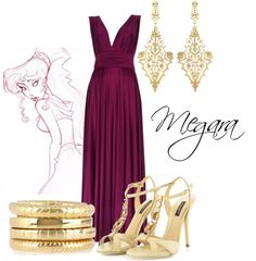 """Megara"" by crazycatgirll ❤ liked on Polyvore"