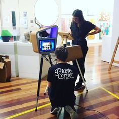 """Setting up for Mothers Day - """"Mother Goddess of the Earth, 2017"""". Inspired by what we think might inspire #dinosaur_designs Come & have your photo taken. #mothersday #hazelhurstcafe #gymea #dinosaurdesigns #eventcrew with @watsonwithlisa @photocorner #photobooth #oceanandearth #love"""