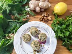 Пхали из крапивы с грецкими орехами, кинзой и имбирем