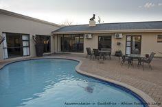 Pool at African Footprints Lodge. Bloemfontein Accommodation.