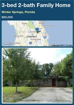 3-bed 2-bath Family Home in Winter Springs, Florida ►$80,000 #PropertyForSale #RealEstate #Florida http://florida-magic.com/properties/22855-family-home-for-sale-in-winter-springs-florida-with-3-bedroom-2-bathroom