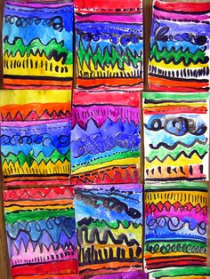 """Rainbow colors and lines, what's better? From the blog """"CassieStephens.blogspot.com"""""""