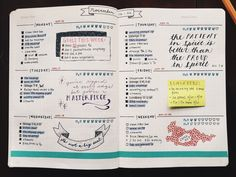 Organize your week with these weekly spread inspirations! See my favorites and how they are inspiring me to upgrade my own weekly spread. Planner Bullet Journal, Bullet Journal Weekly Layout, Bullet Journal Spread, Journal Layout, My Journal, Bullet Journal Inspiration, Bullet Journals, Journal Ideas, Art Journals
