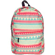 Hakuna Matata Aztec Backpack ($22) ❤ liked on Polyvore featuring bags, backpacks, aztec print backpack, aztec pattern backpack, aztec print bag, knapsack bag and backpack bags