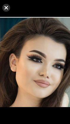 Beauty Makeup, Eye Makeup, Flawless Makeup, Dark Brown Eyes, Hair Color Dark, Bride Look, Makeup Transformation, Photo Black, Smokey Eye
