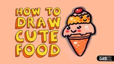 How To Draw a Cute Ice Cream - Kawaii Food - Easy Drawings by Garbi KW