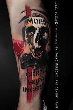 d620e0b7538 Skull and flower tattoo Red Tattoos
