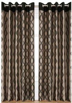 Capri Flocked Eyelet Curtains on shopstyle.co.uk