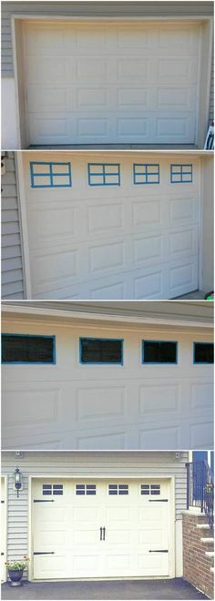 Never ever do this to your garage door. Please. It will ruin any value of your door and will look awful.