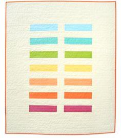 Modern Rainbow Baby Quilt