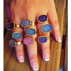 Stacking Gemstone Ring #gemstone #ring #jewelry  9thelm.com