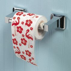 FLAMINGO HIBISCUS TOILET PAPER - who comes up with this stuff????