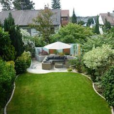 Gartengestaltung Kleiner Garten Sichtschutz | Reihenhaus Garten ...