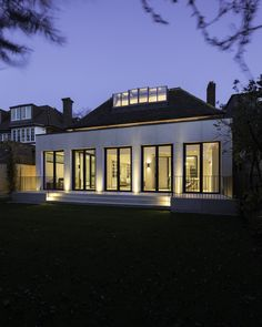 Contemporary orangery with bespoke rooflights transforms family home Stone Columns, Roof Light, Ground Floor, Bespoke, Terrace, Living Spaces, Home And Family, Exterior, Traditional