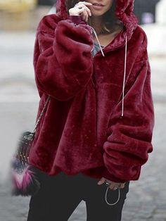f0bce28f57153 Laceshe Women s Warm Comfortable Hoodie Loose Sweatshirt