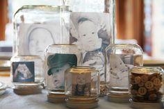 Photos in jars...easy & fabulous decor!