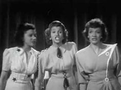 Andrews Sisters - Steppin' Out Tonight (+playlist) Glenn Miller, 1940s Inspired Fashion, Move Song, Silly Songs, Vintage Videos, Mezzo Soprano, 60s Music, Youtube Stars, Popular Music