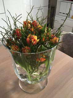 Spring is here ;-] spring flowers # Spring is here ; Easter Flowers, Summer Flowers, Diy Easter Decorations, Flower Decorations, Spring Is Here, Arte Floral, Floral Arrangements, Beautiful Flowers, Glass Vase
