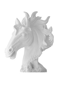 Coppola Poly Horse Head, Matte White