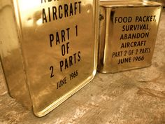 Vintage Survival Rations, Survival Food, Army Rations, Air Force, Vietnam, 1960s, MRE, Zombie Apocalypse, Steampunk, Hipster, Man Cave via Etsy