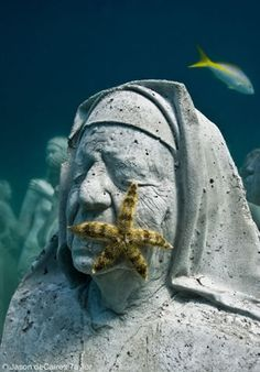 Underwater Statues in Isla Mujeres, Mexico