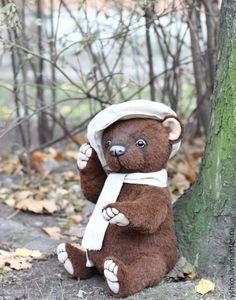 Купить Мишаня медвежонок ребенок - коричневый, лисевич, альпака, мишки тедди, медвежонок, тедди мальчик