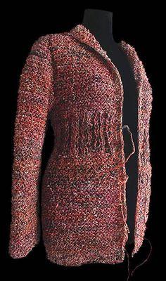 #crochet jacket - made from newspaper - amazing!  crochet jacket #2dayslook #crochetfashionjacket   www.2dayslook.com