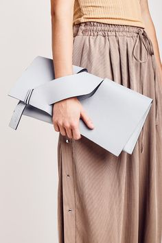 Diagonal Slashed Clutch