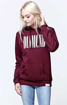 Diamond Supply Co Burgundy Pullover Hoodie at PacSun.com