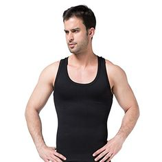 211880e545 Hanerdun Mens Slimming Body Shaper Shirt Vest Abs Abdomen Slim   More info  could be found at the image url.