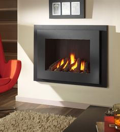 Crystal Fires Manhattan High Efficiency Hole In The Wall Gas Fire From Direct Fireplaces Tv Above Fireplace, Wall Mount Electric Fireplace, Wall Gas Fires, Man Cave Room, Electric Fires, Cool Walls, New Homes, Lounge, Living Room